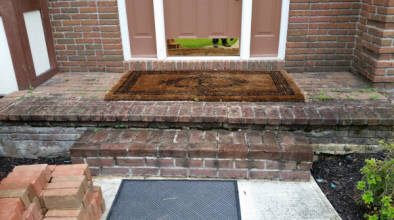 brick porch repair